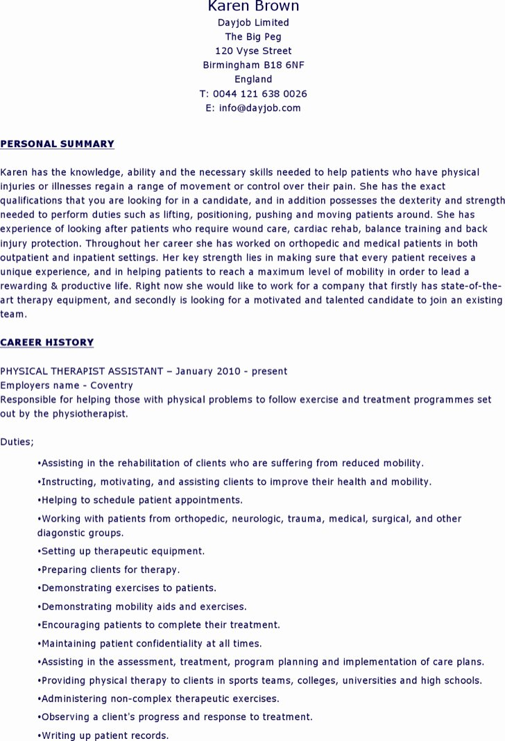 6 Physical therapist Resume Templates Free Download
