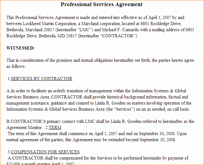 6 Professional Services Agreement Template