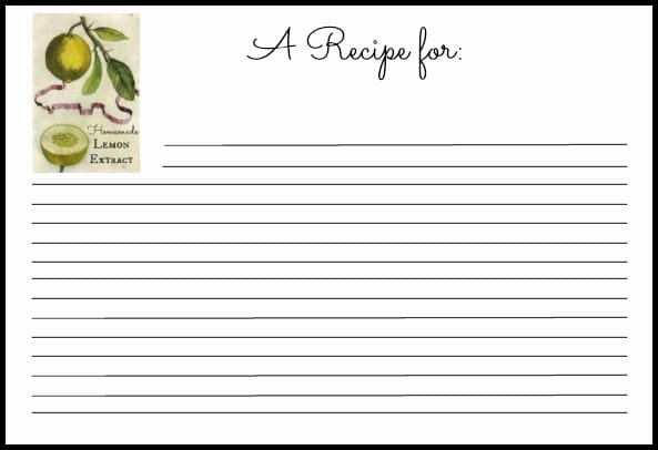 6 Recipe Card Templates Word Excel Templates