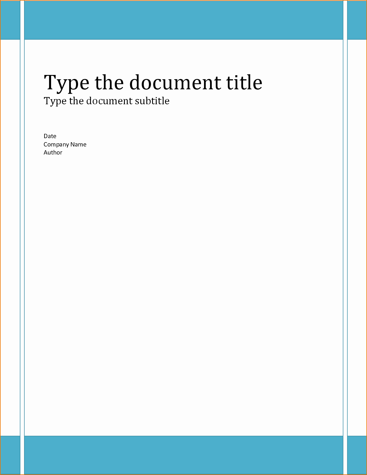 6 Report Cover Page Template