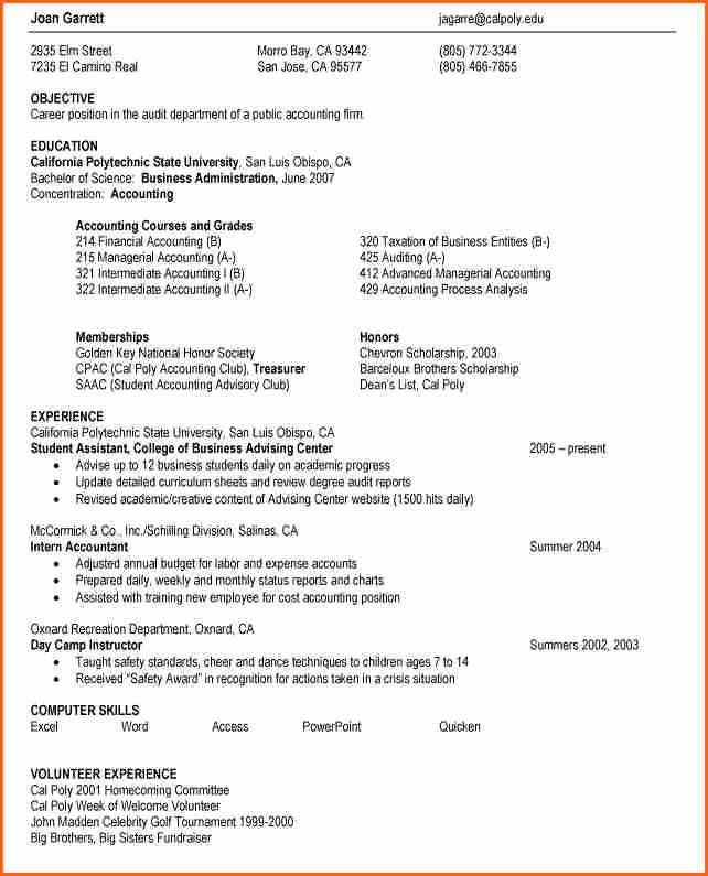 6 Resume Help for High School Students Bud Template