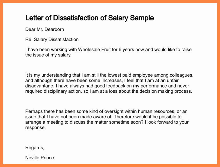 6 Salary Increase Justification Letter
