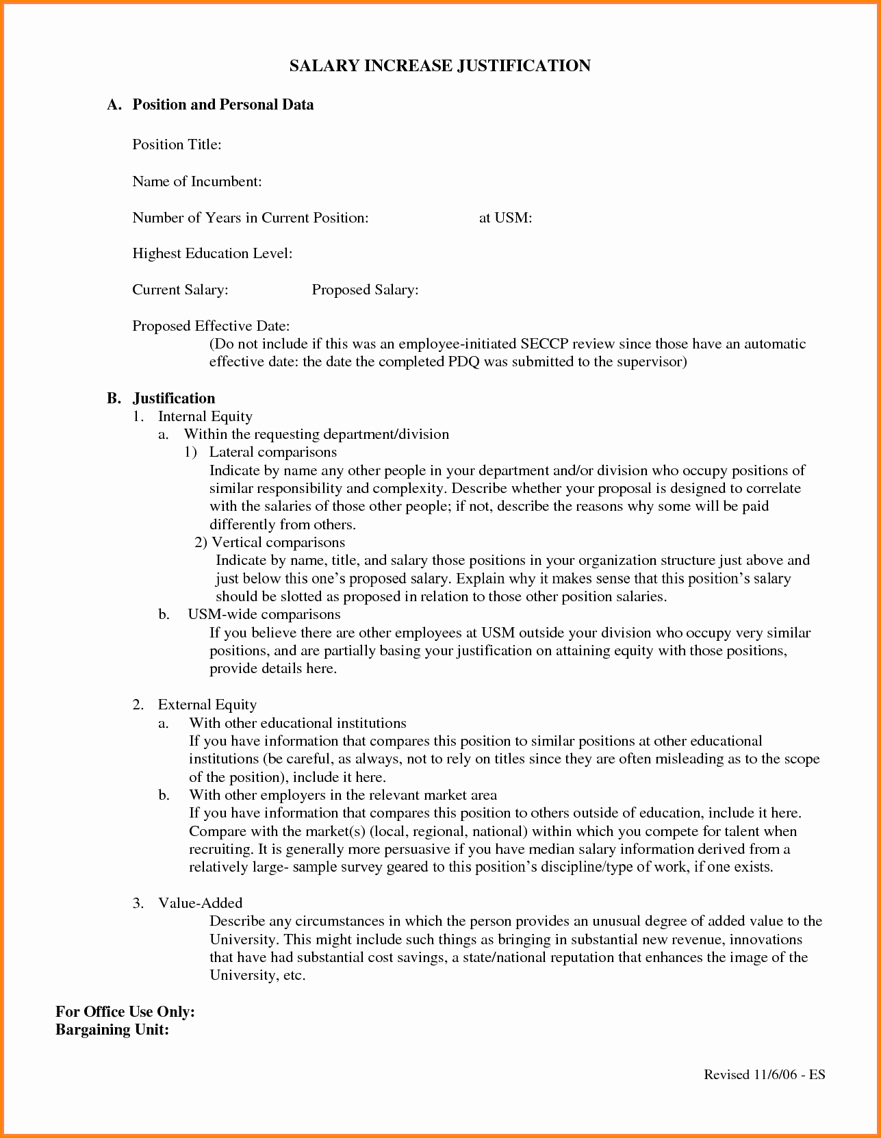 6 Salary Increase Proposal Template