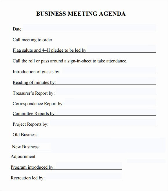 6 Sample Business Meeting Agenda Templates to Download