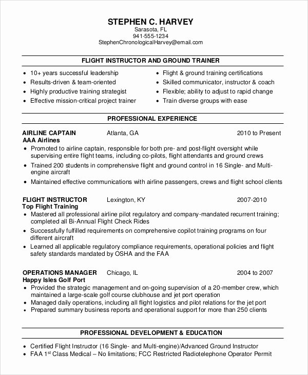 6 Sample Flight attendant Resumes