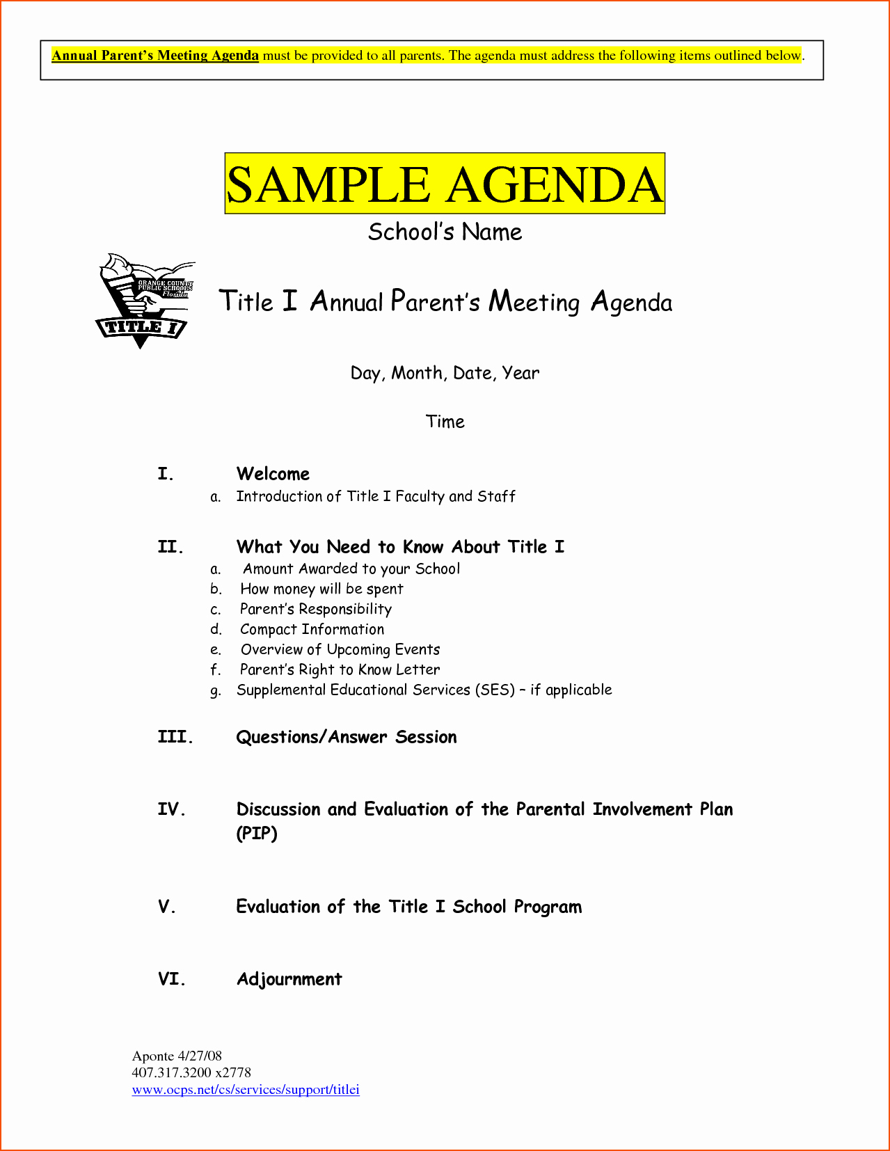 6 Sample Meeting Agenda Template Bookletemplate
