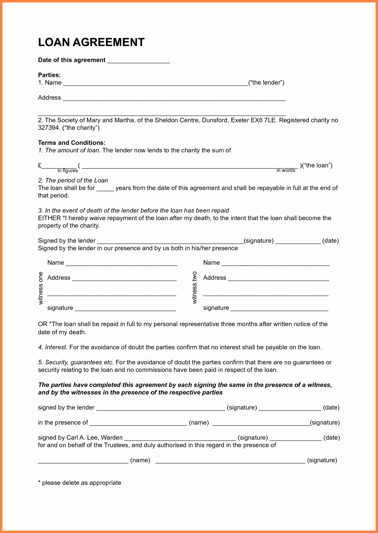 6 Sample Personal Loan Agreement Template