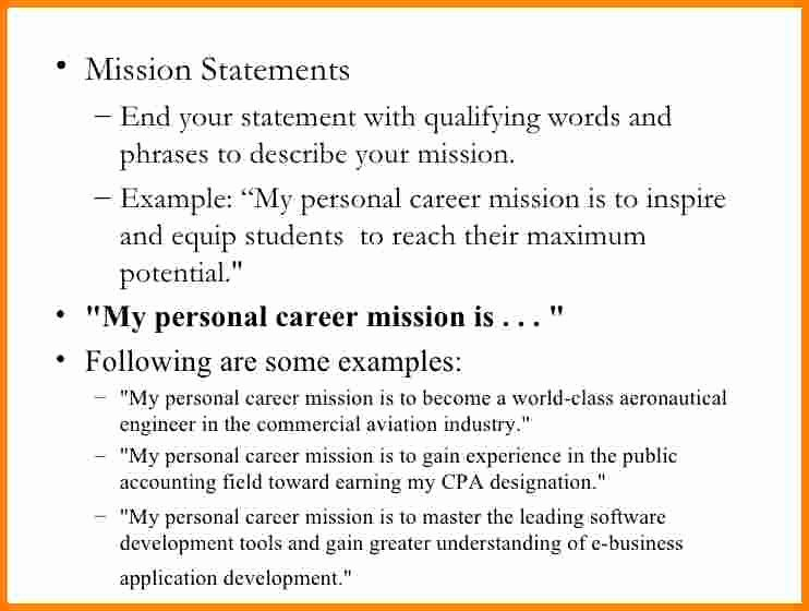 6 Sample Personal Mission Statement
