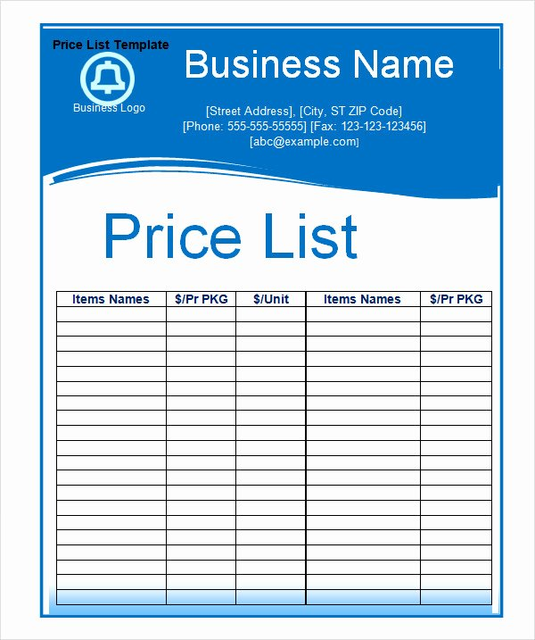 6 Sample Price List Templates