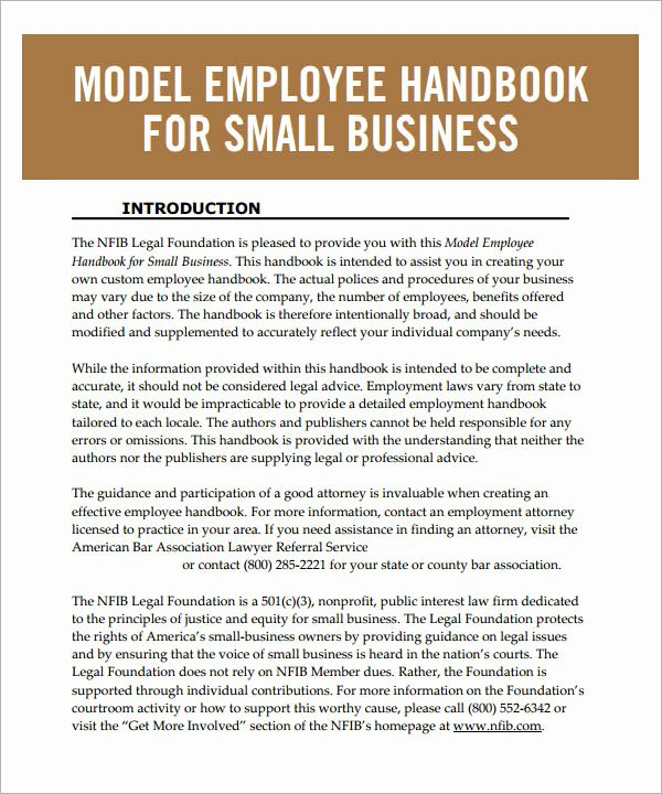 6 Sample Printable Employee Handbook Templates