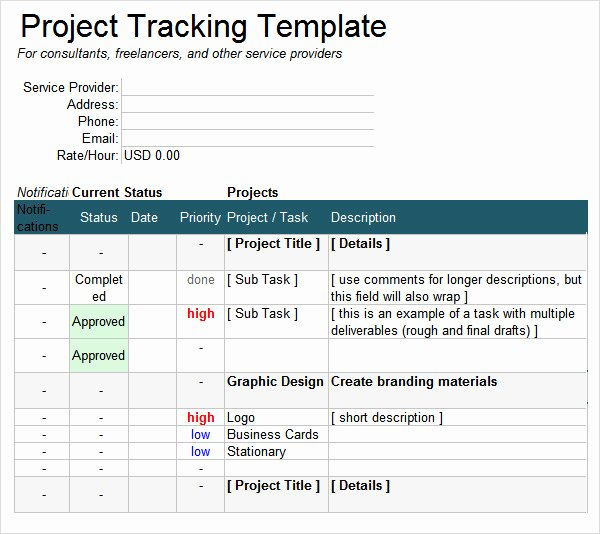 6 Sample Project Tracking Templates to Download