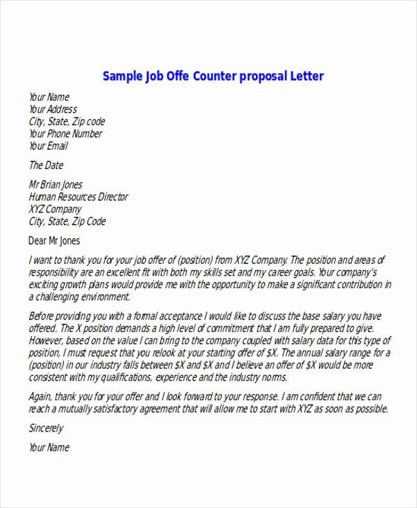 6 Sample Proposal Fer Letters