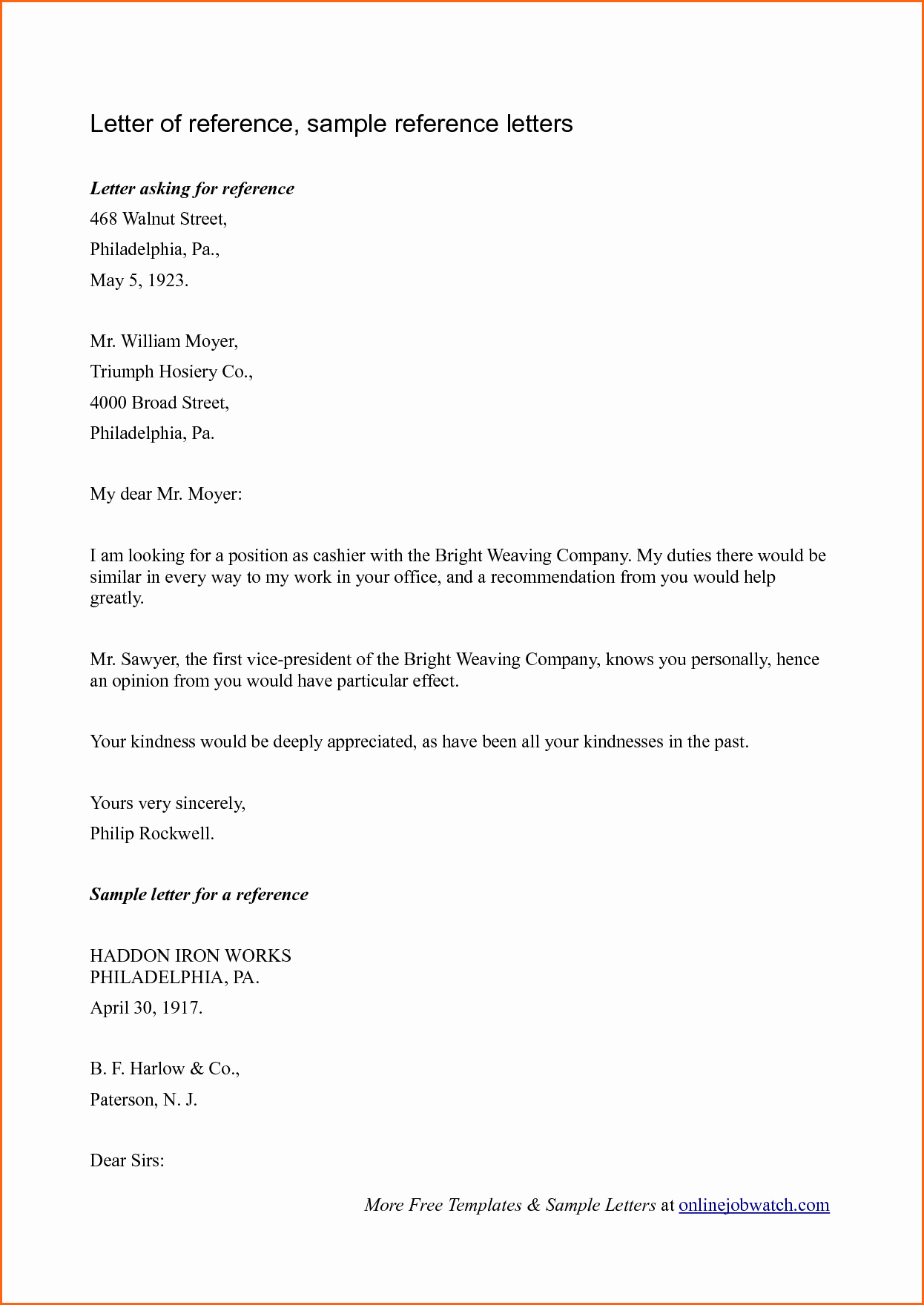6 Sample Reference Letter Bud Template Letter