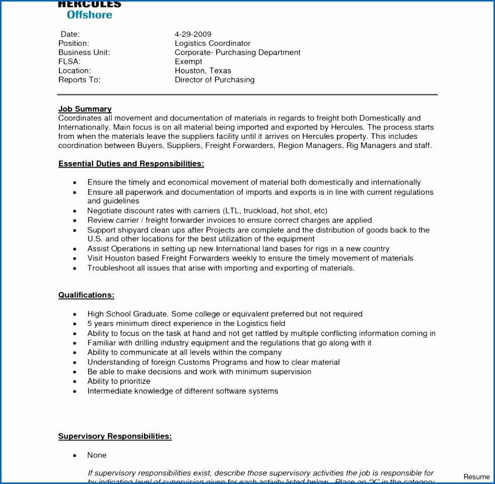 6 Sample Resume for Purchasing Manager