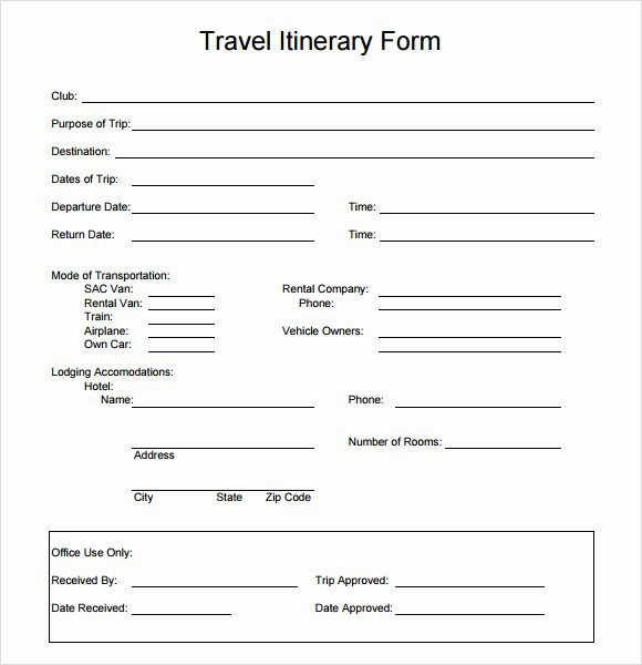 6 Sample Travel Itinerary Templates to Download