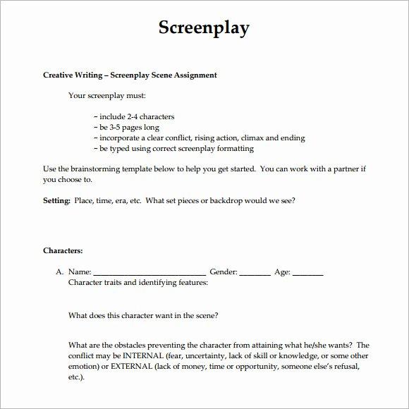 6 Screenplay Samples