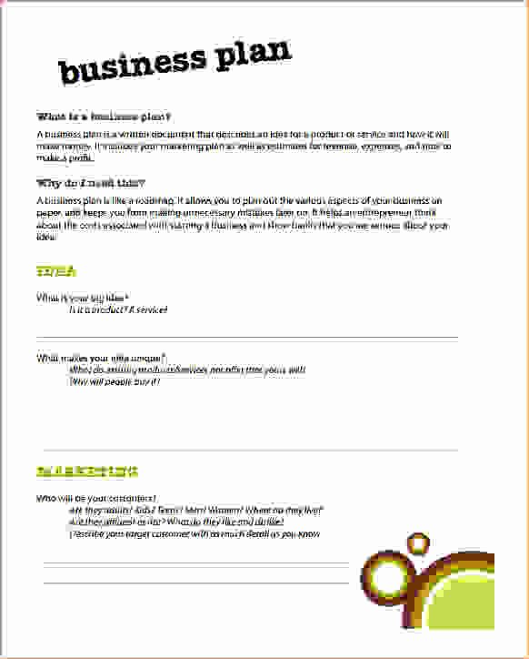 6 Simple Business Plan Template