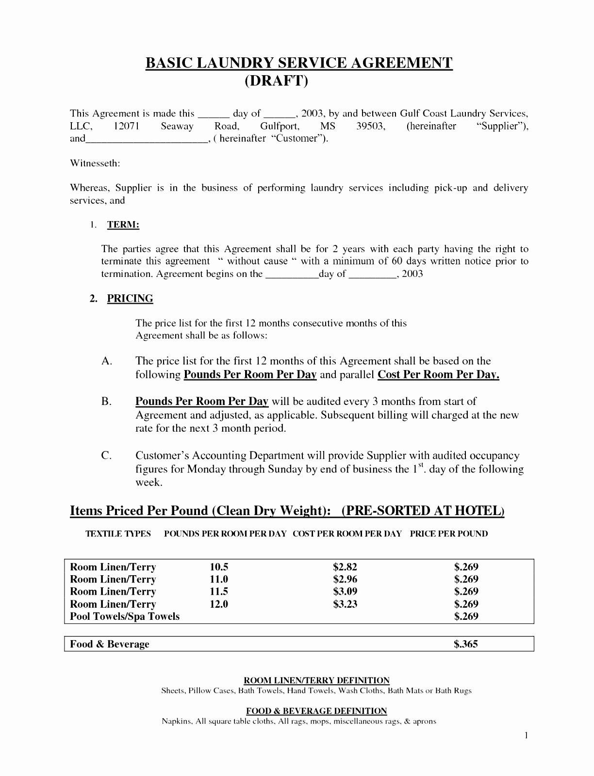 6 Simple Contract for Services Template attiu