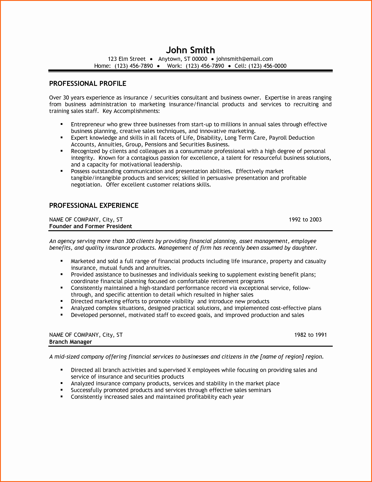6 Small Business Owner Resume Bud Template Letter