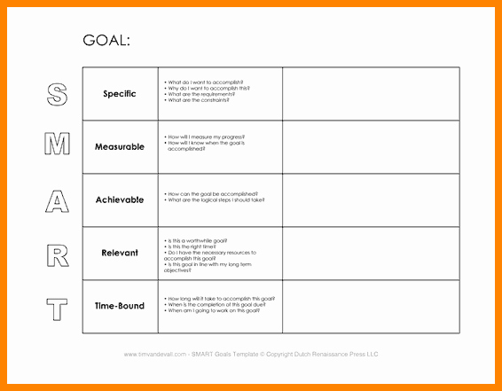 6 Smart Action Plan Template