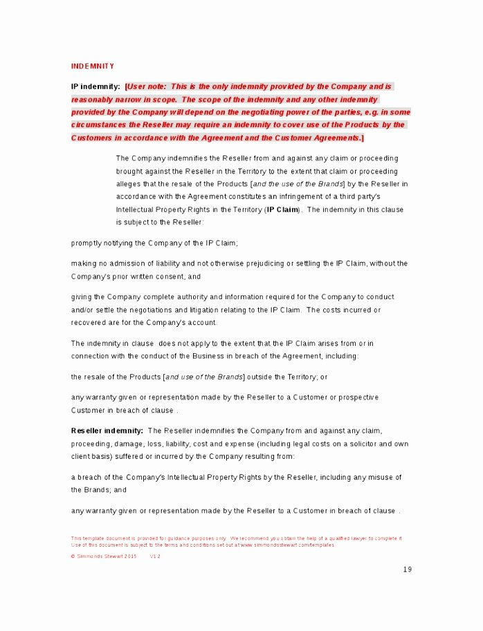 6 software Reseller Agreement Template Uoeub