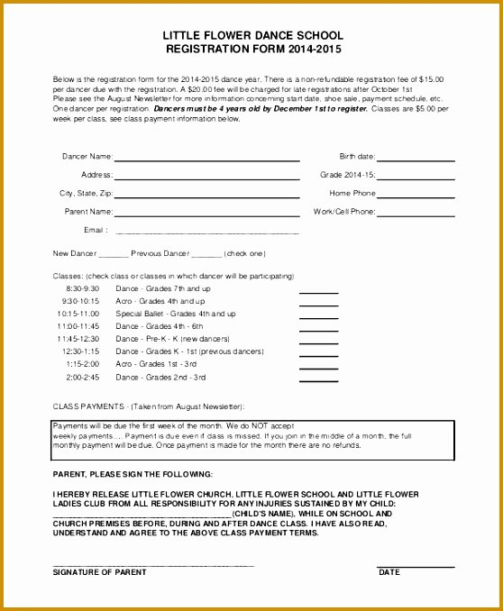 6 Sunday School Registration form Template