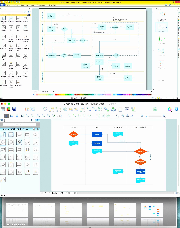 6 Swim Lane Diagram Template Excel Exceltemplates