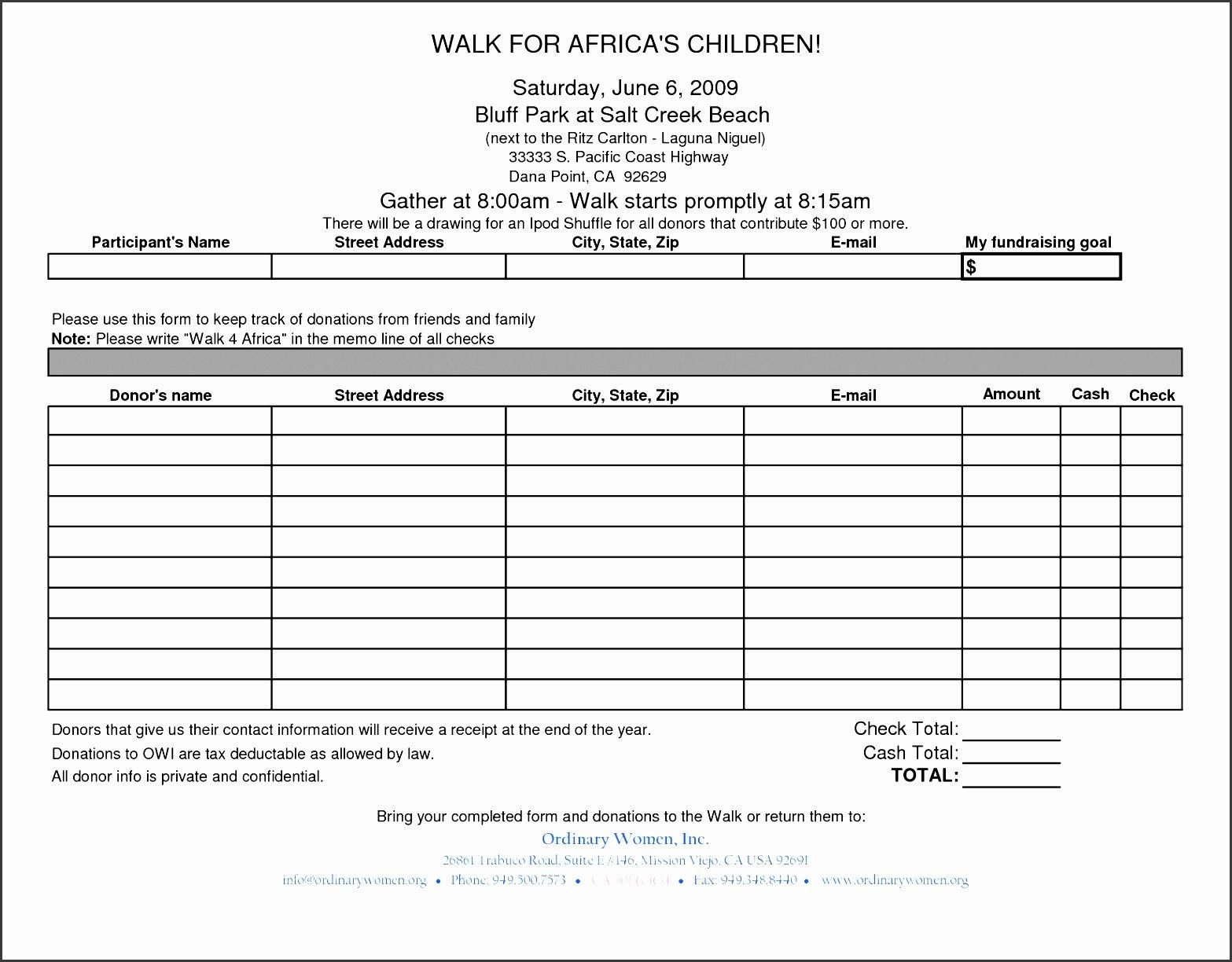 6 Tax Donation Receipt Template Sampletemplatess