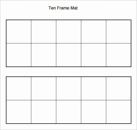 6 Ten Frame Samples