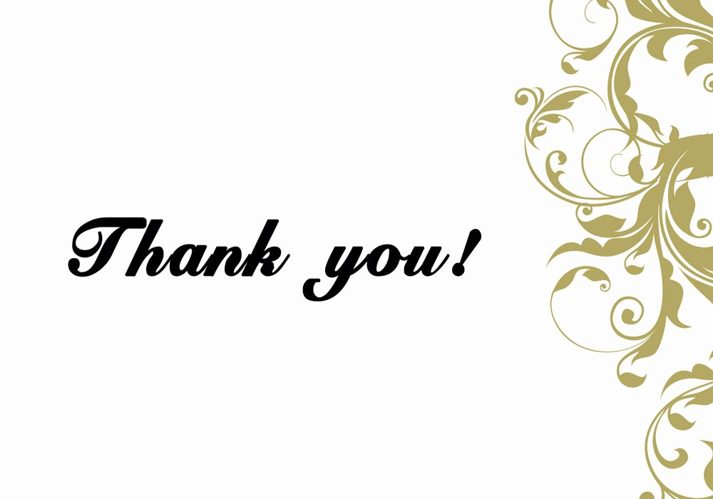 6 Thank You Card Templates Excel Pdf formats