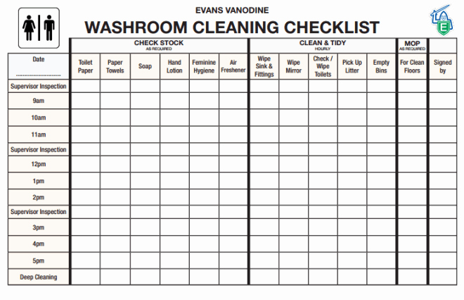 6 toilet Checklists Word Excel Templates
