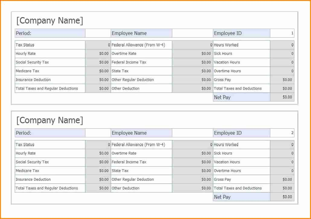 6 Truck Driver Pay Stub Template