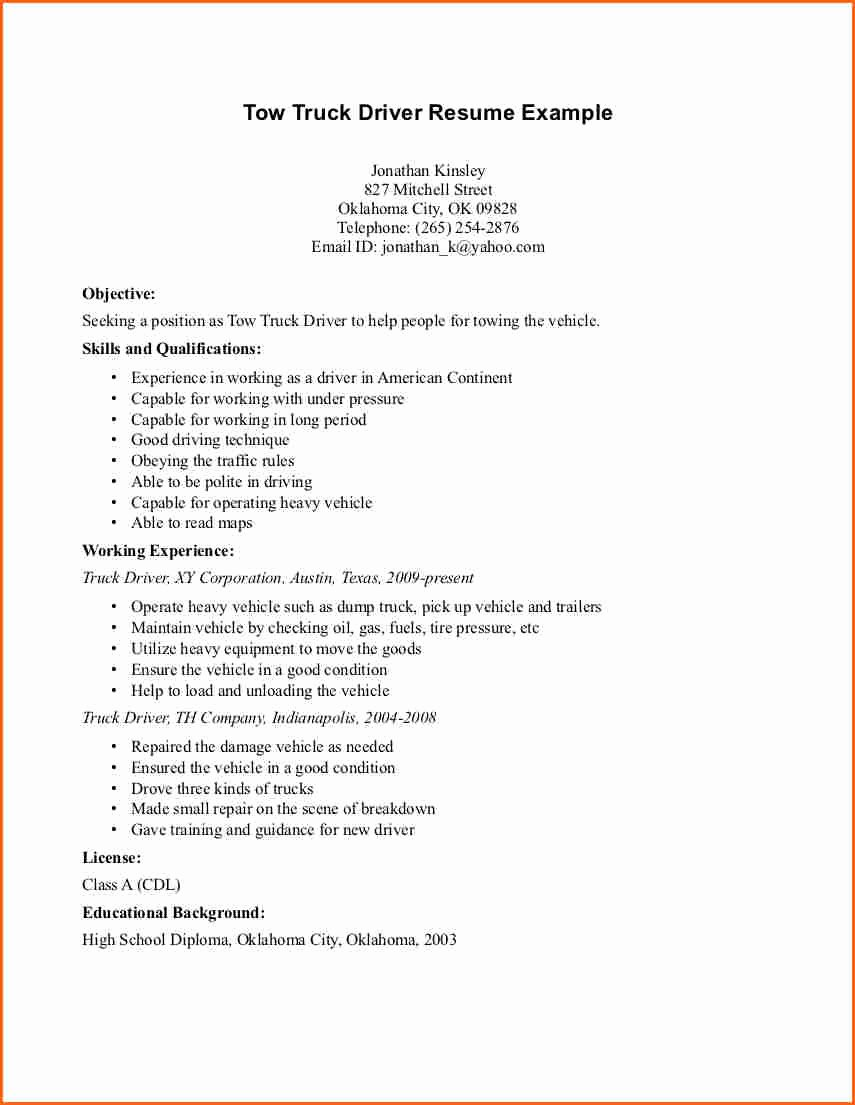 6 Truck Driver Resume Sample Bud Template Letter