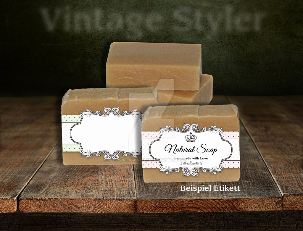 6 Vintage Blank soap Editable Labels without Text by