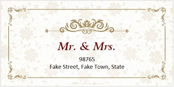 6 Wedding Address Label Templates for Ms Word