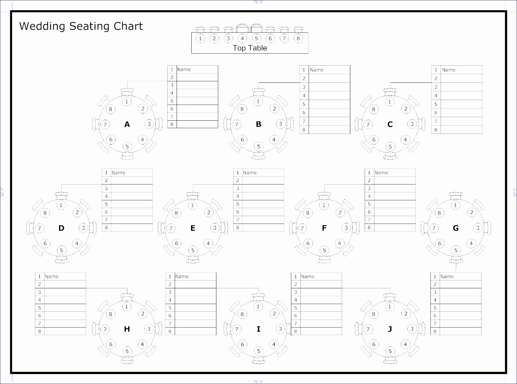 6 Wedding Seating Chart Template Excel Exceltemplates