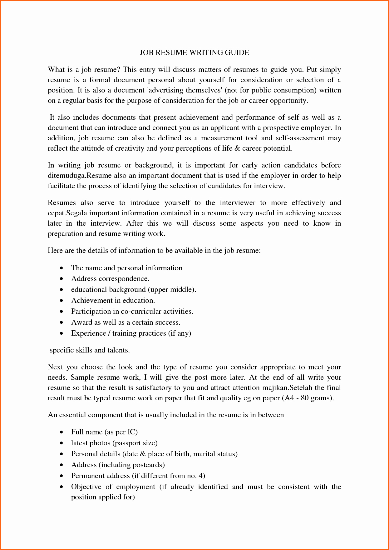 6 What Does A Resume Look Like Bud Template Letter