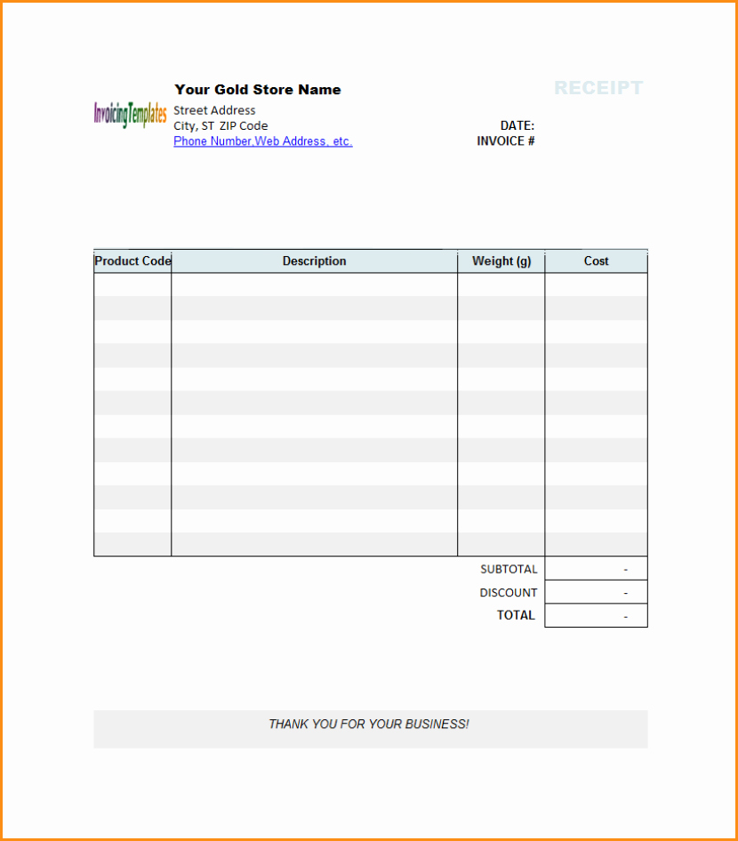 6 Word Invoice Template