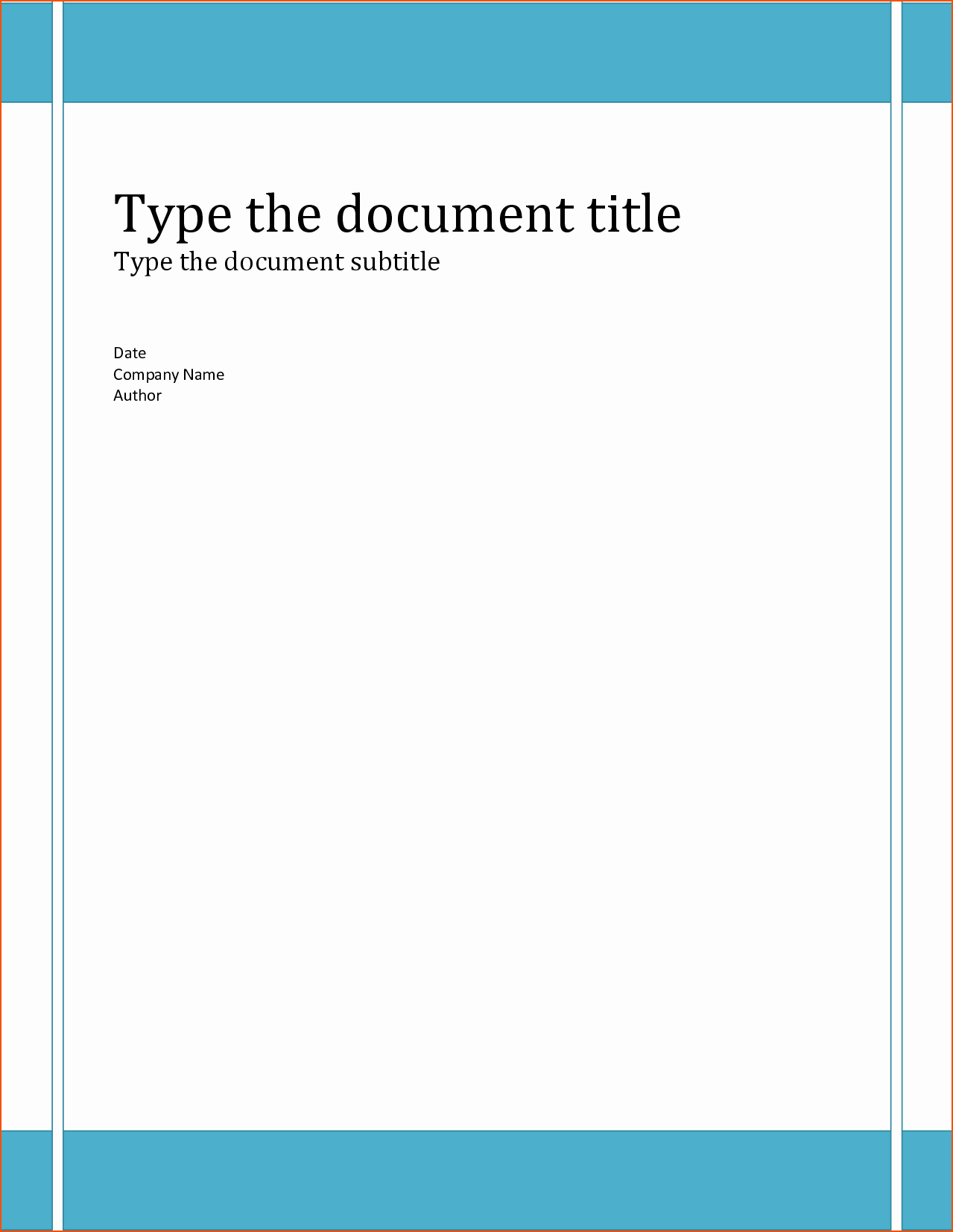 6 Word Report Templates Bookletemplate