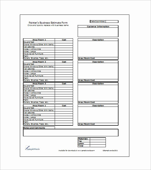 6 Work Estimate Templates – Free Word & Excel formats