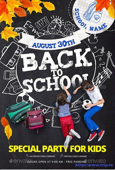 60 Best Back to School Flyer Print Template 2016