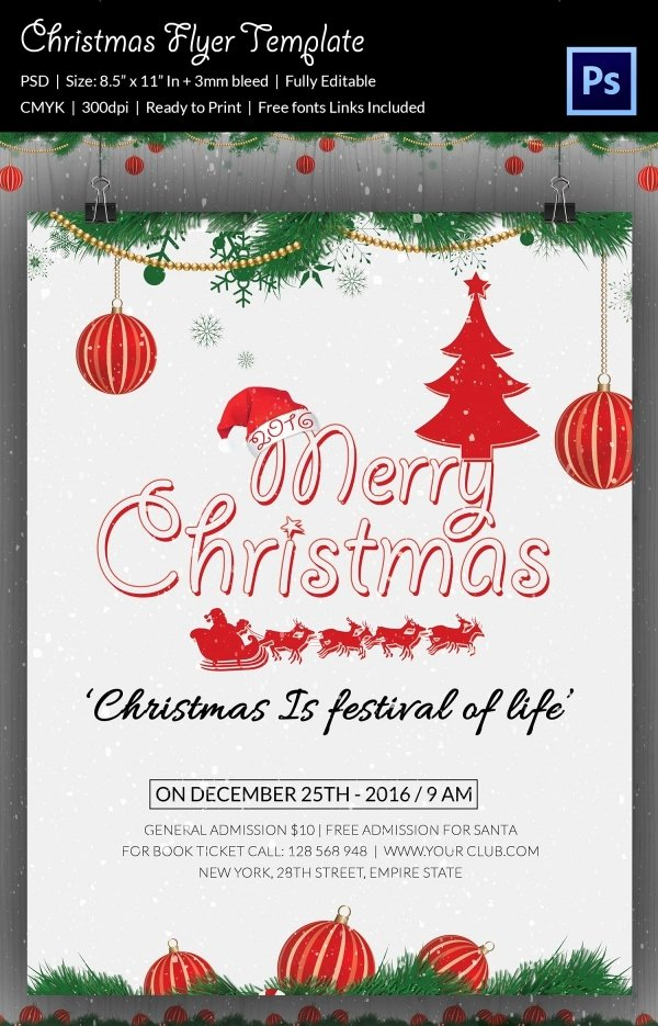 60 Christmas Flyer Templates Free Psd Ai Illustrator