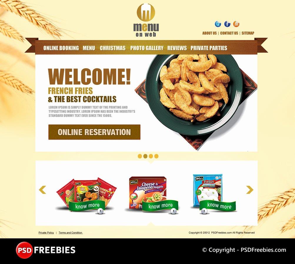 60 Free & Premium Restaurant Templates Suitable for