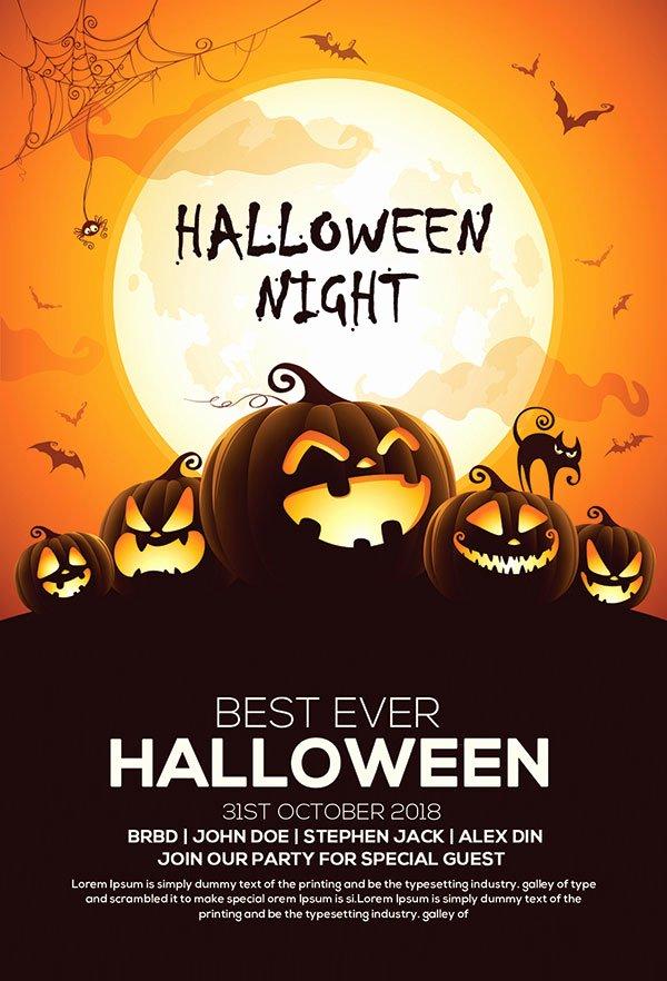 60 Free Halloween Posters Invitation Flyers & Print