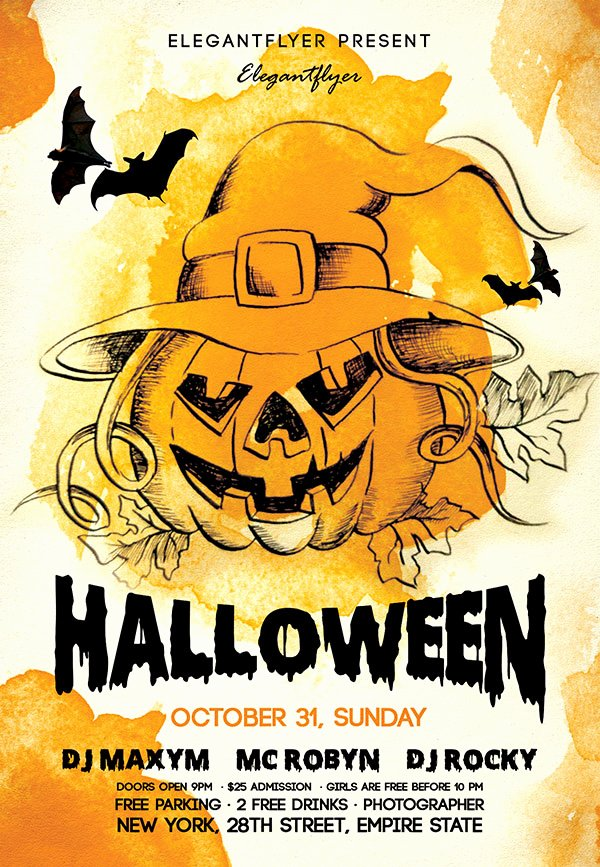 60 Free Halloween Posters Invitation Flyers & Print