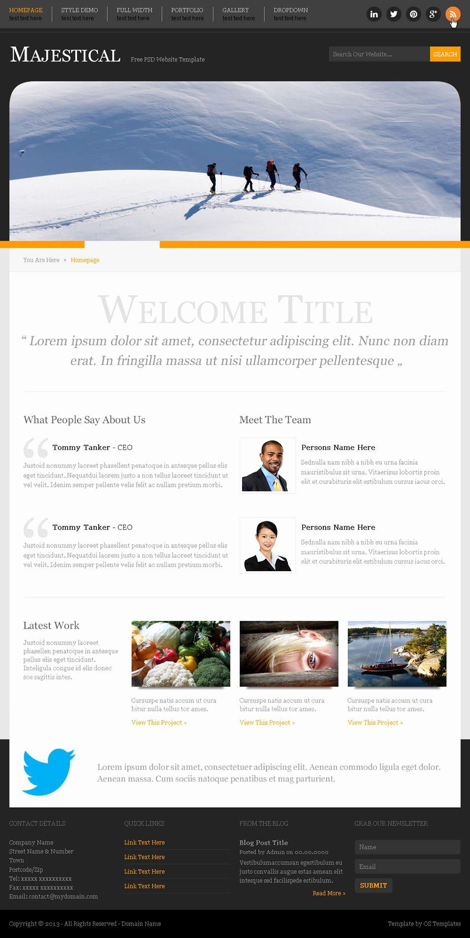 60 Free Psd Website Templates