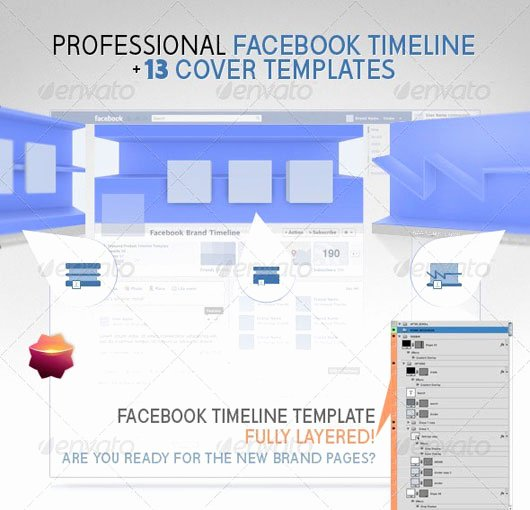 60 High Quality Timeline Cover Psd Templates