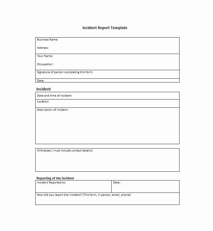 60 Incident Report Template [employee Police Generic