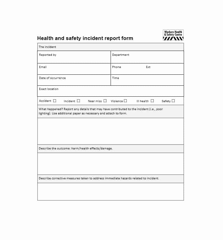 60 Incident Report Template [employee Police Generic