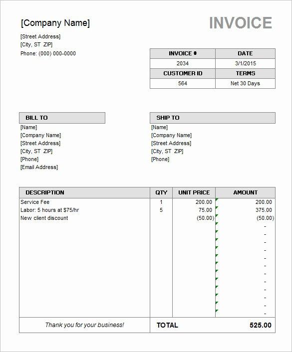 60 Microsoft Invoice Templates Pdf Doc Excel